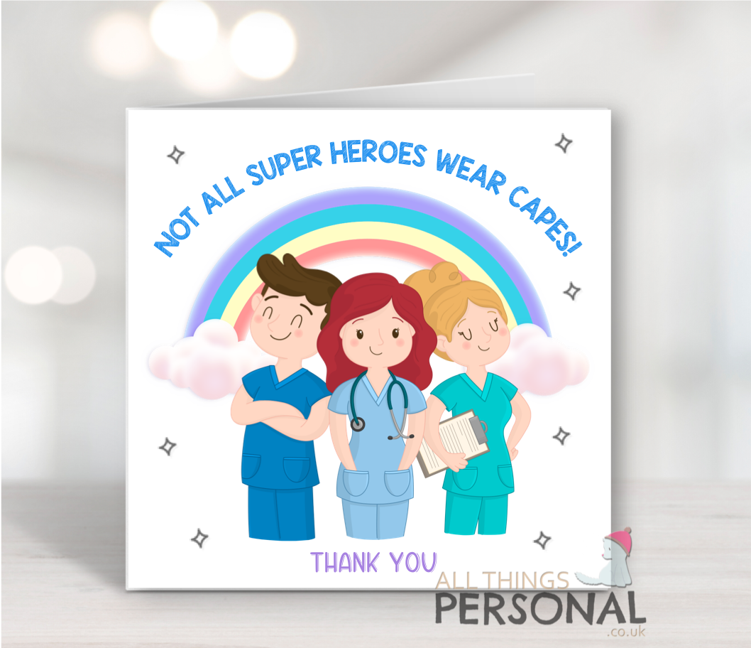 Making Britain Proud Superheroes KEY WORKERS Thank you Card