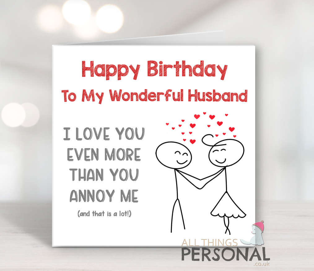 Lustige Geburtstagskarte Für Ehemann von Frau Witz Geburtstag ...